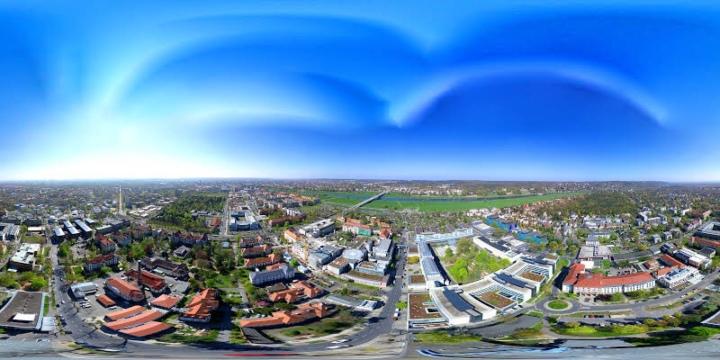 360 Grad Aerial Panorama des Universitätsklinikum Carl Gustav Carus jetzt bei Google Mapsonline